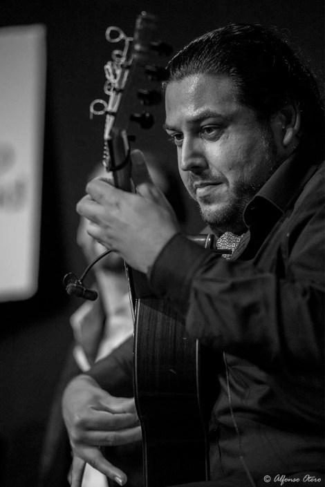 Foto de Joselito de Pura en el Círculo Flamenco de Madrid, tomada por Alfonso Otero