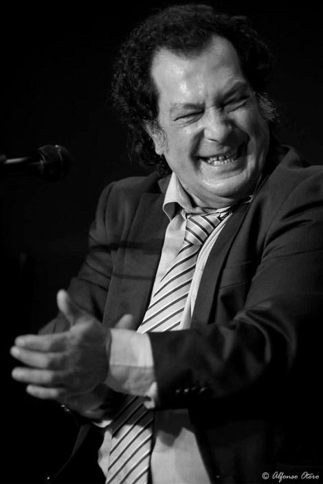 Foto de Juan Villar en el Círculo Flamenco de Madrid, tomada por Alfonso Otero