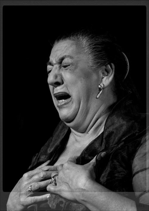Foto de Juana la del Pipa en el Círculo Flamenco de Madrid, tomada por Diego Gallardo