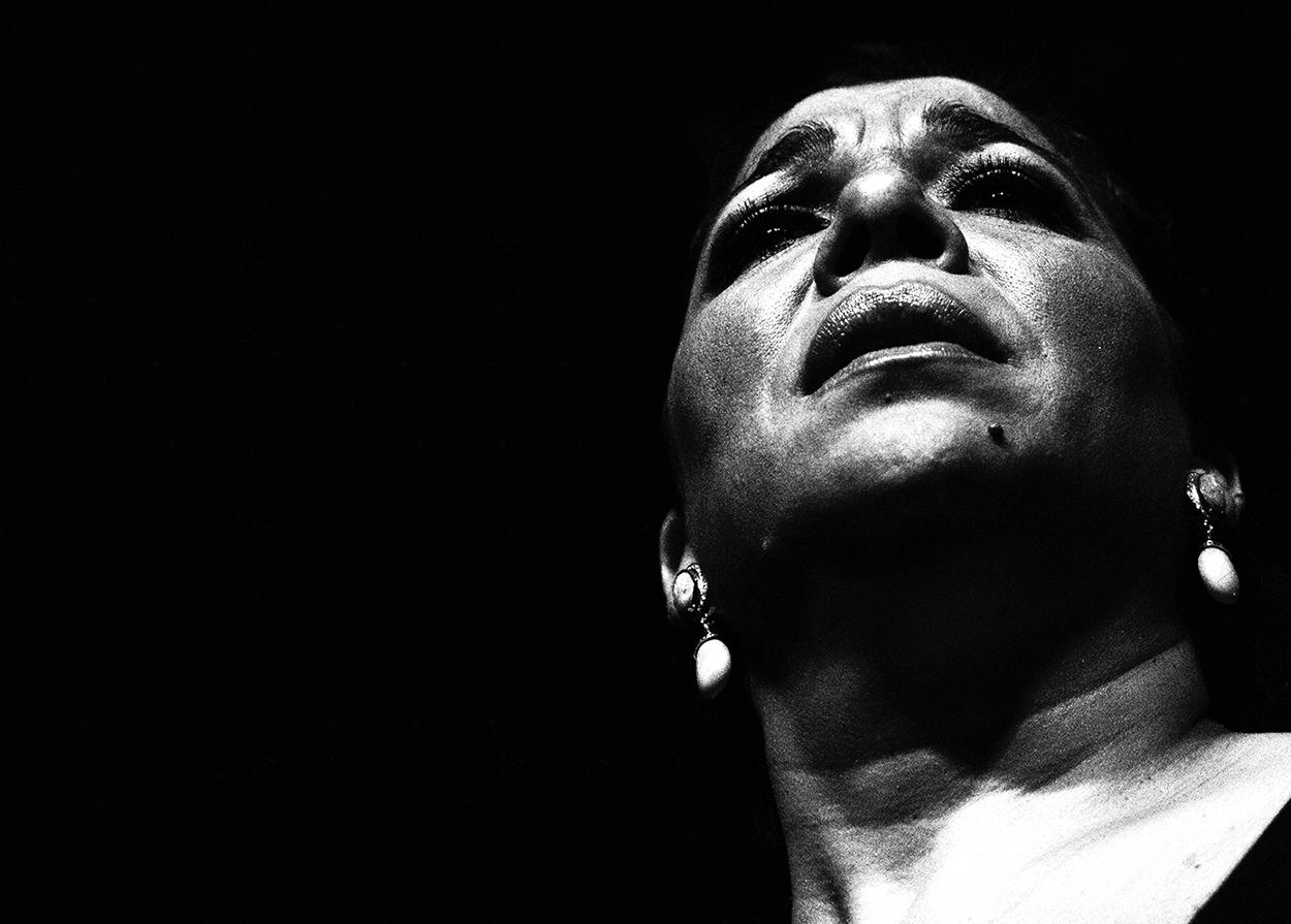 Foto de Tomasa La Macanita en concierto en el Círculo Flamenco de Madrid