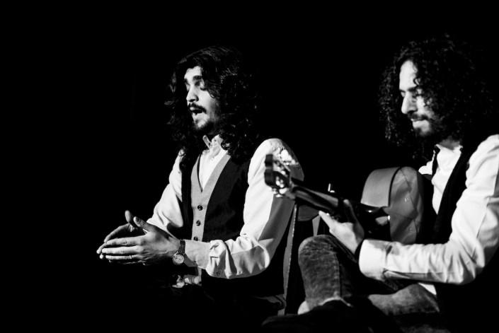 Foto de Israel Fernández y Jony Jiménez en el Círculo Flamenco de Madrid, tomada por Claudia Ruiz