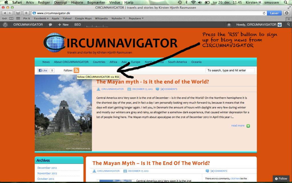 Follow CIRCUMNAVIGATOR using RSS