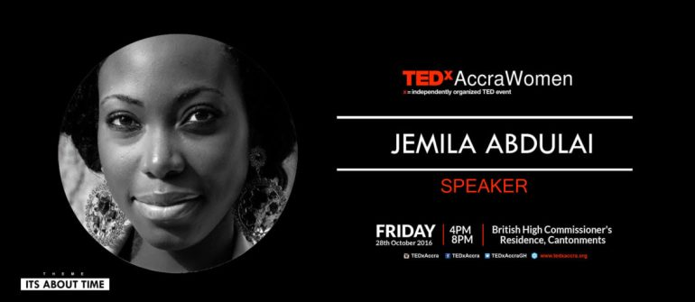 TEDxAccraWomen 2016 speaker Jemila Abdulai, founder of Circumspecte.