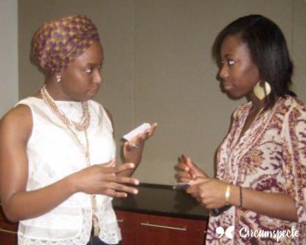 Chimamanda Ngozi Adichie and Circumspecte founder Jemila Abdulai