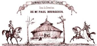 Cirque Bourgeois - papier à lettre - Le Cirque en 1852