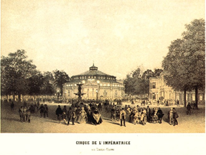 Cirque de l'Impératrice (extérieur) - Cirque en 1852