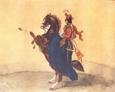pauline cuzent pauline cuzent litho Goebel - le Cirque en 1852