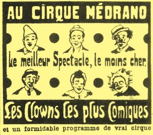 clowns au Cirque Medrano - Boum-Boum