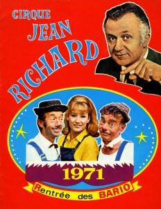 programme avec les Bario - clowns vedettes du Cirque jean Richard