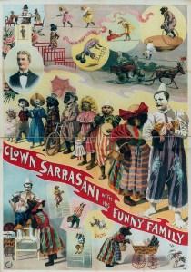 Le clown Sarrasani - Année 1900 au Cirque