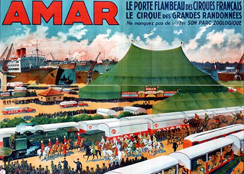 Chapiteau et parade : Amar, Roi du Cirque