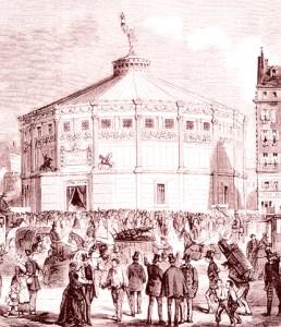 gravure : Façade du Cirque Napoléon