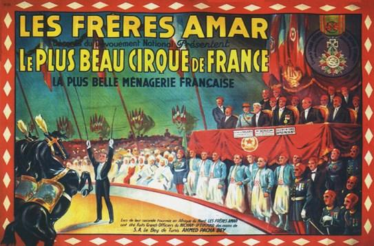 Amar, Roi du Cirque et sa ménagerie, affiche de 1933