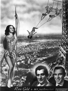 Rose Gold, impératrice du trapèze, sous la Tour Eiffel - Photopub