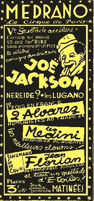 Medrano avec Joe Jackson - Le voleur de bicyclette