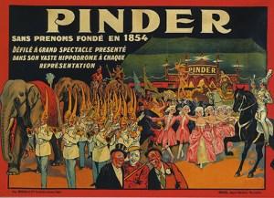 Affiche de pinder et sa parade