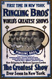 Les frères Ringling - Année 1900