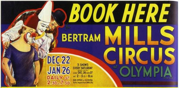 Affiche de Charlie Rivel et ses partenaires au B. Mills Circus - Charlie Rivel