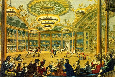Premiers cirques parisiens