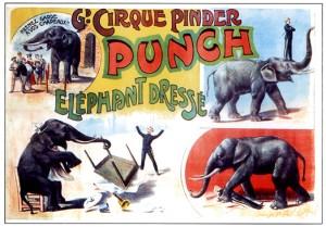 Punch au Cirque Pinder - Année 1902 Cirque
