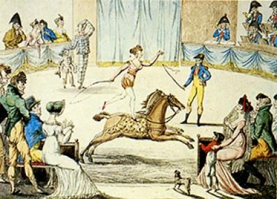 Franconi aux Jardins des Capucines - cirques parisiens