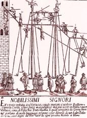 Funambules à Venise en 1700 - Premiers cirques dans le monde