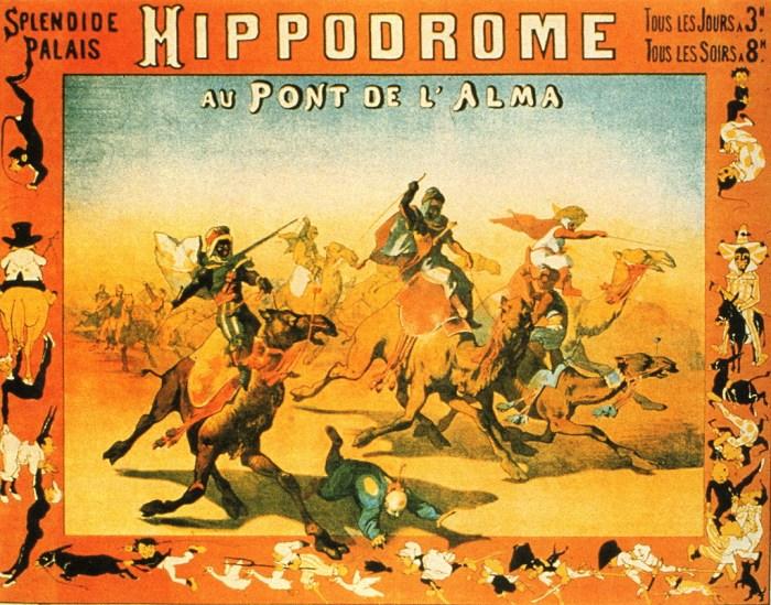 Affiche de l'Hippodrome de l'Alma - Hippodromes parisiens