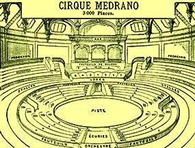 Plan de Medrano - Année 1902 Cirque