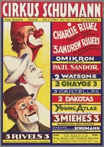 Affiche de 3 Rivel au Cirque Schumann - Charlie Rivel