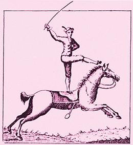 Premiers voltigeurs à cheval