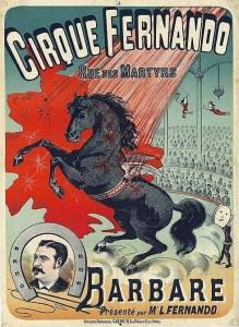 affiche du Cirque Fernando en 1883