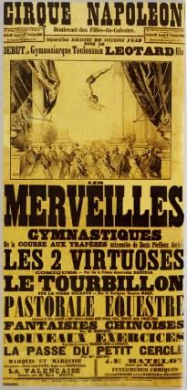 Jules Léotard à l'affiche du Cirque Napoléon