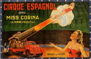 Lady cannonball Corina - Circus Dictionary