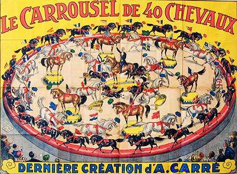 Le carrousel de A. Carré - cheval au Cirque