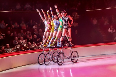 Bicycle act - Troupe de Dalian - Circus Dictionary