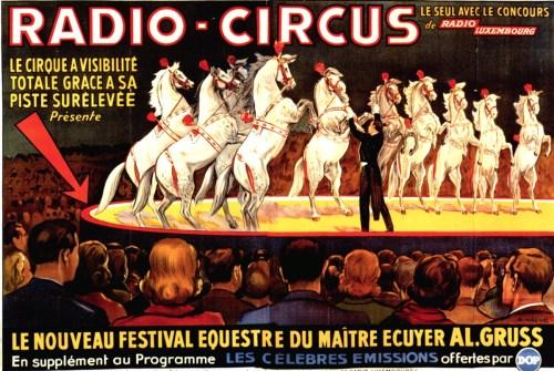 Le maître écuyer Alexis Gruss Senior au Radio Circus - cheval au Cirque