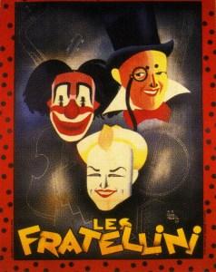 Affiche des 3 Fratellini par Gogdeuil - Fratellini