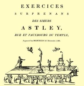 Le pont équestre en 1786 - Astley
