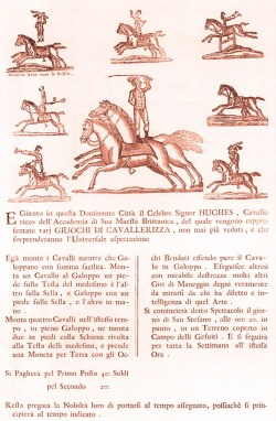 Charles Hugues dans les états italiens - Royal Circus