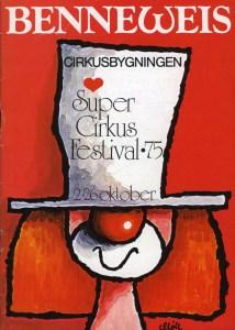 Benneweis au Cirque de Copenhague en 1975 - programme