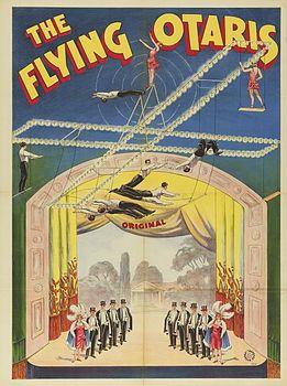 Flying Otaris - trapèze en croix - trapèze volant