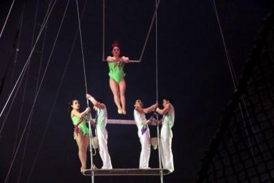 La troupe de Pyongyang au trapèze volant