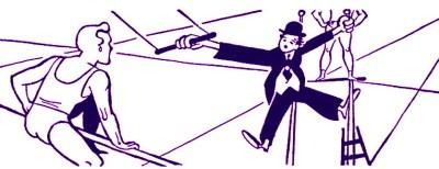 Charlot au trapèze - trapèze volant