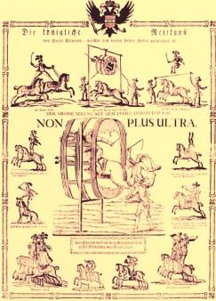 Affiche de Chiarini - voltigeurs équestres