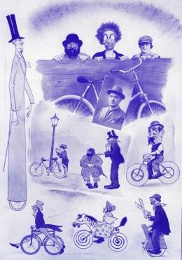 Les vélos comiques de Paetzold - cyclistes