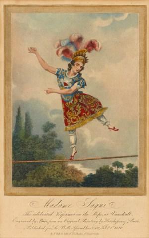 gravure de Madame Saqui