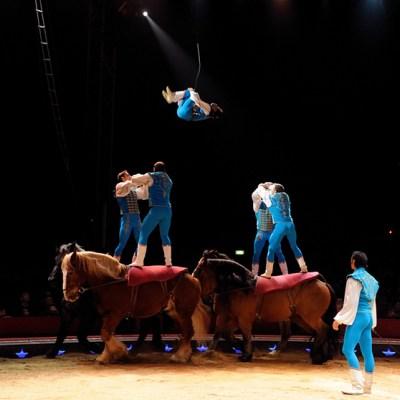 acrobates à cheval Richter