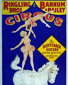 Voltigeurs et acrobates à cheval au Cirque