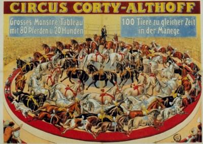 Affiche Corty-Althoff - Année 1904 au Cirque