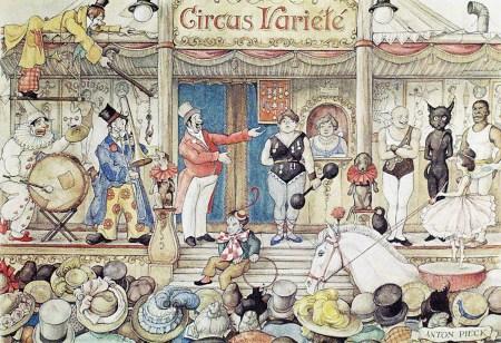 Scène de parade - Cirque Bilboquet